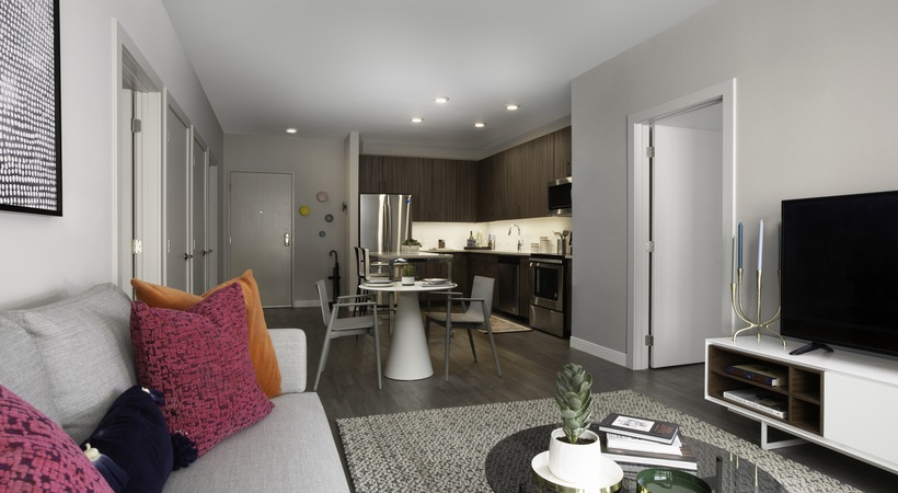 The Andi Kitchen and Living Room