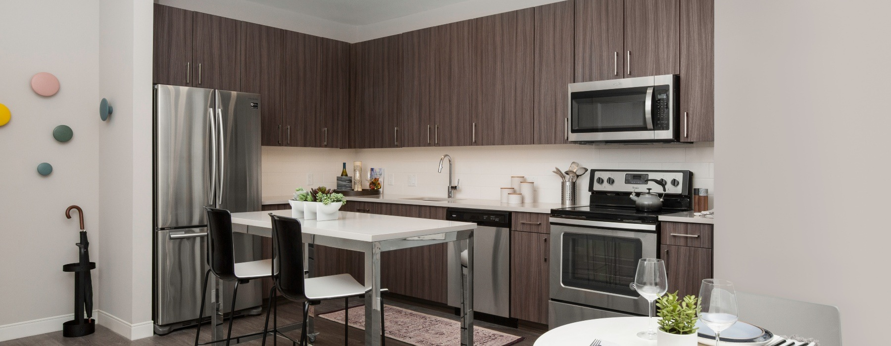 One Bedroom Kitchen at The Andi Apartments Dorchester